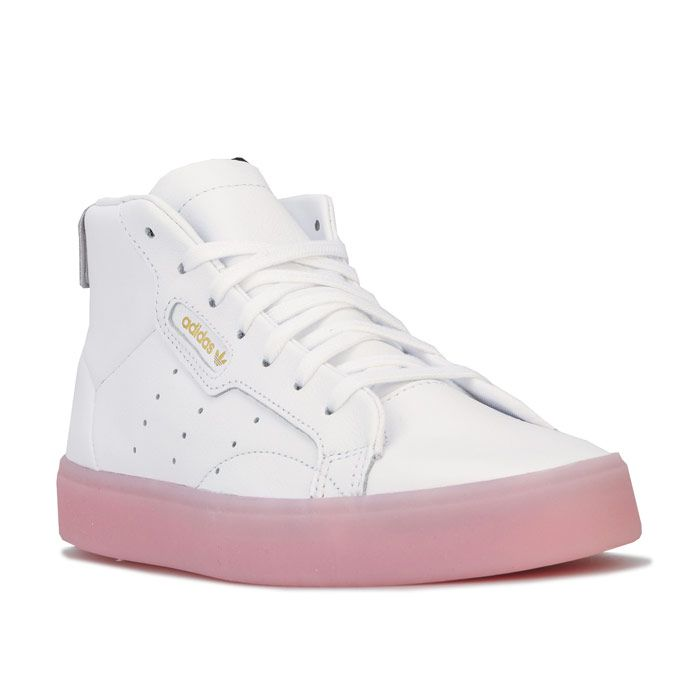 Women's adidas Originals Sleek Mid Trainers in White pink