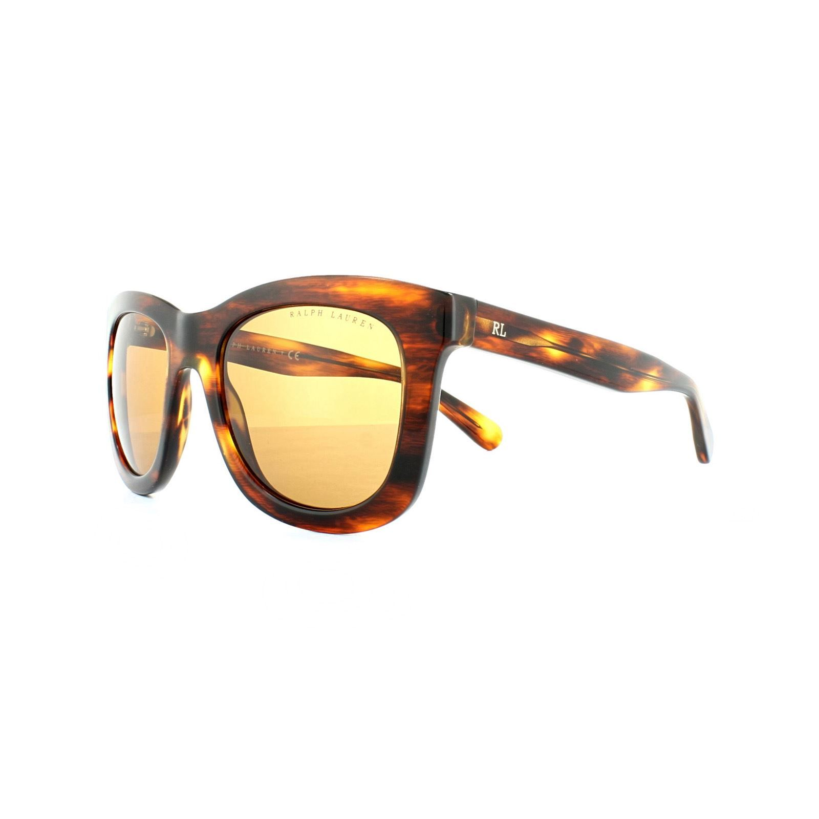 Ralph Lauren Sunglasses 8137 500773 Striped Havana Brown