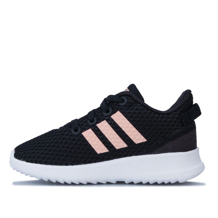 Girl's adidas Infant Racer TR Trainers in black pink