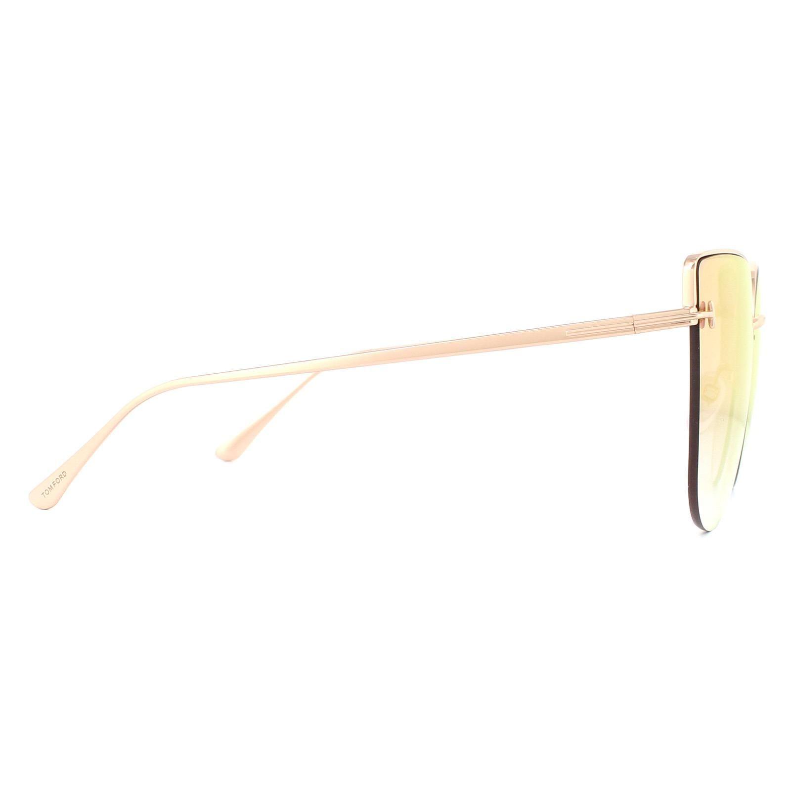Tom Ford Sunglasses Ingrid-02 FT0652 33Z Gold Pink Purple Gradient Mirror