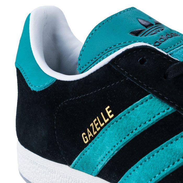adidas Originals Gazelle Trainers in Black Green