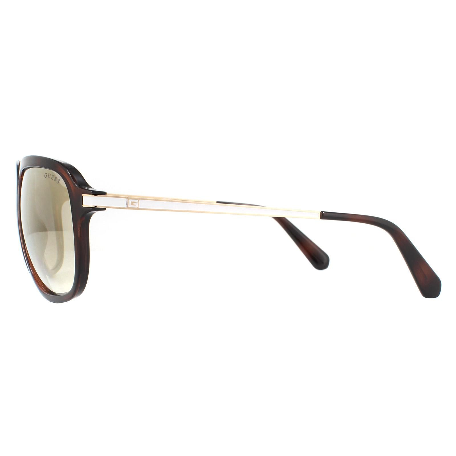 Guess Sunglasses GU6965 52C Dark Havana Pink Mirror