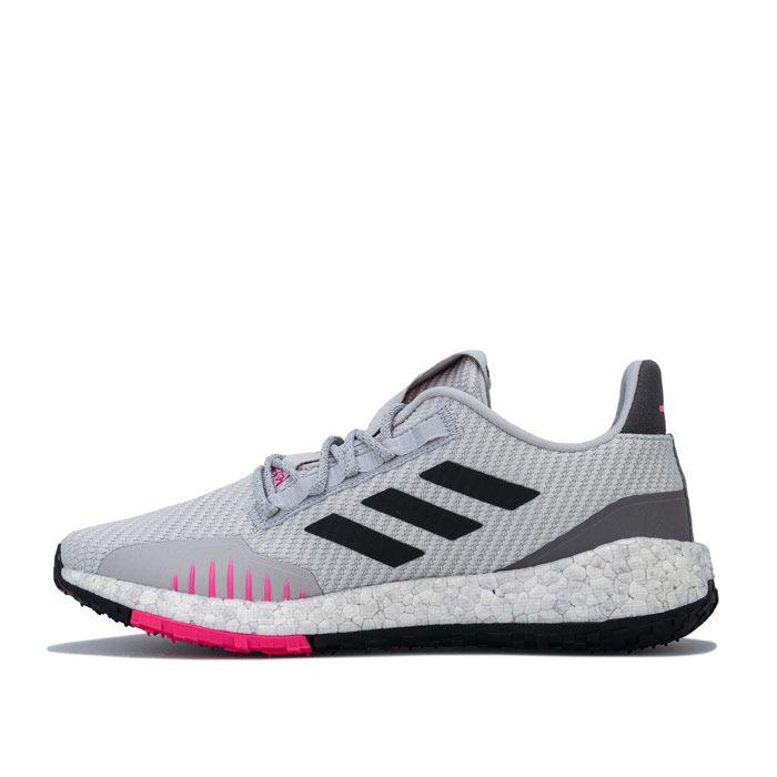 Women's adidas PulseBOOST HD Winter Running Shoes in Light Grey