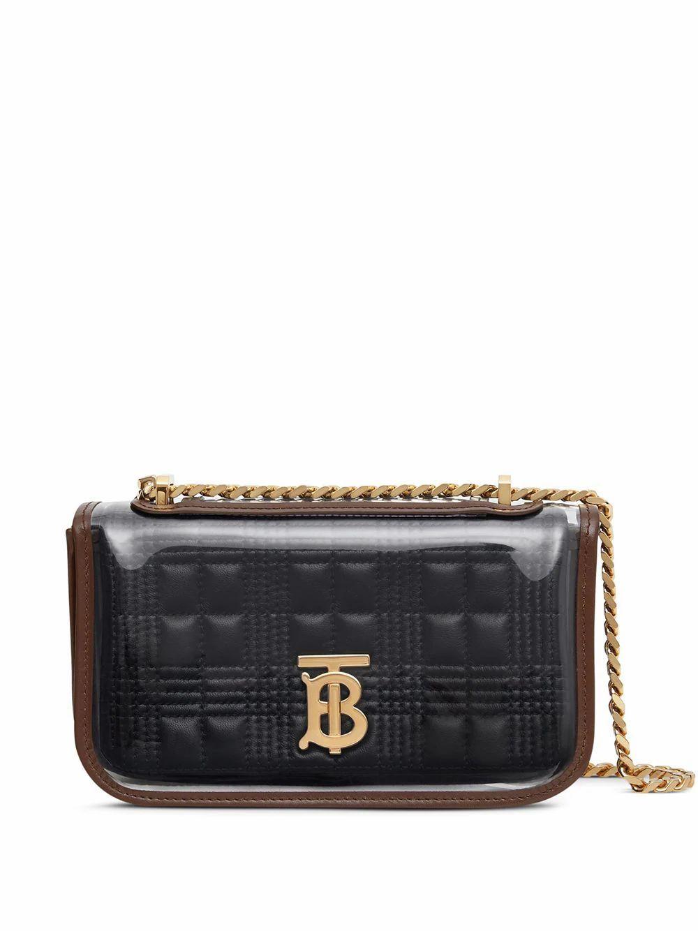 BURBERRY WOMEN'S 8032038 BLACK LEATHER SHOULDER BAG