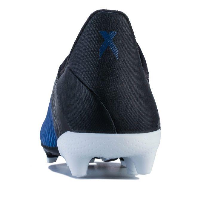 Boy's adidas Junior X 19.3 FG Football Boots in Royal Blue