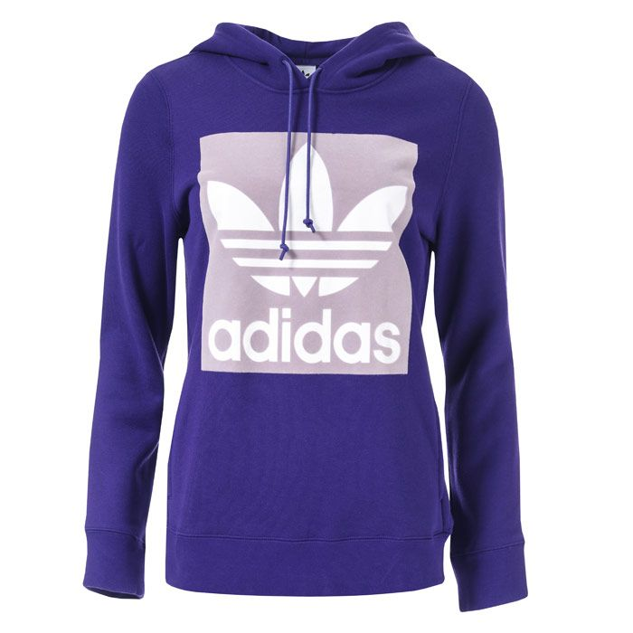 Women's adidas Originals Trefoil Hoodie in Purple