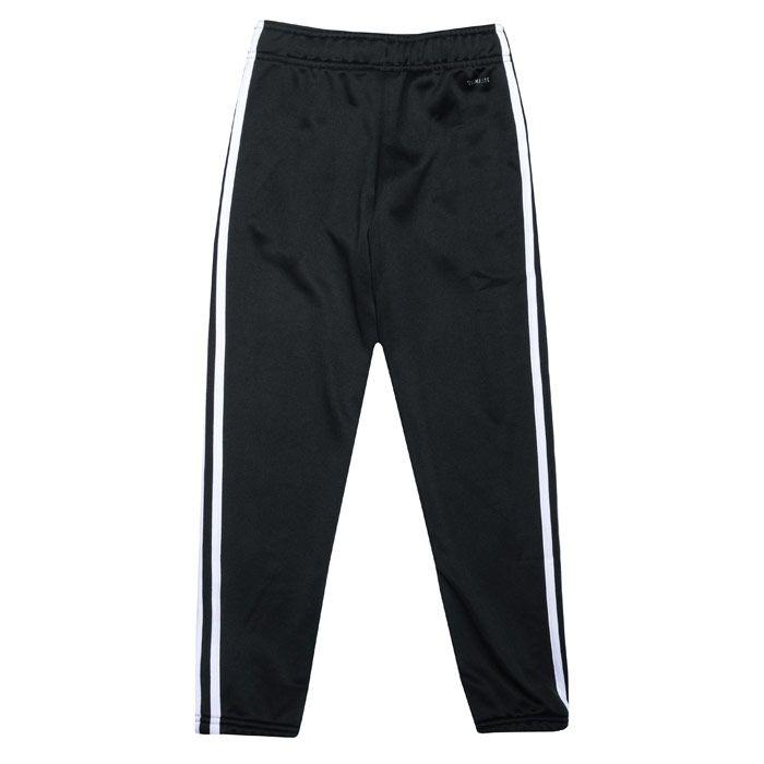 Girl's adidas Junior Cardio Jog Pants in Black-White