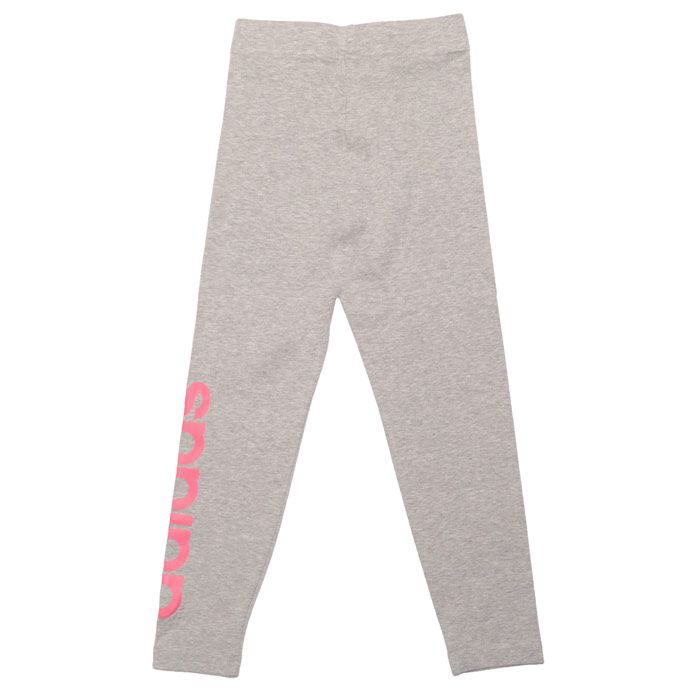Girls' adidas Infant Linear Leggings in Grey