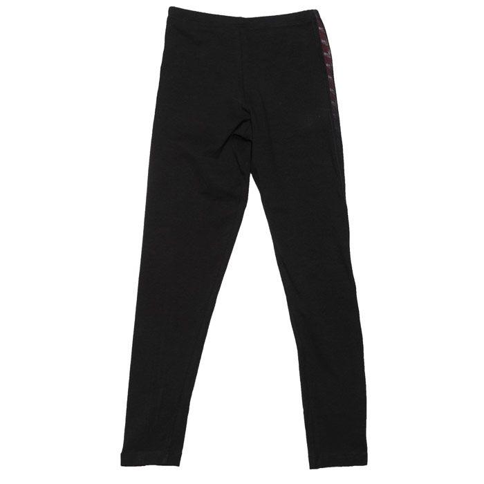 Girls' adidas Originals Junior Taped Leggings in Black