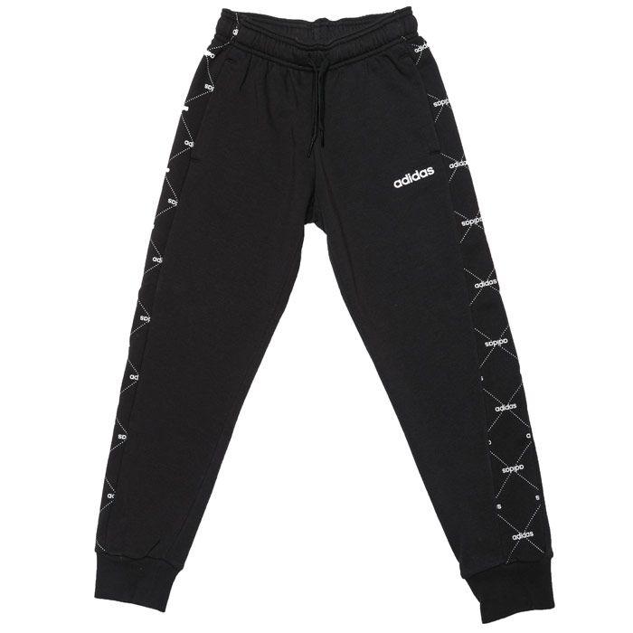 Boys' adidas Junior Motion Print Jog Pants in Black-White