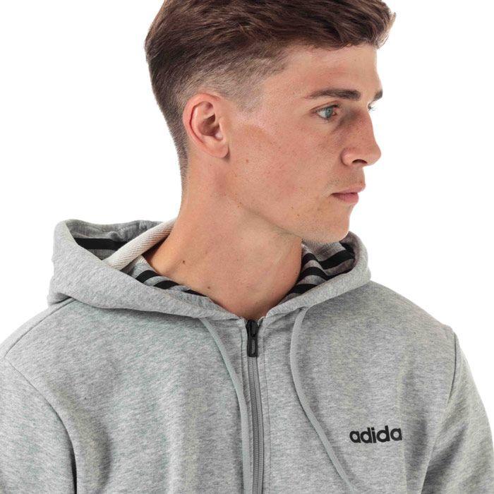 Men's adidas Originals M MO Full Zip Hoody in Grey
