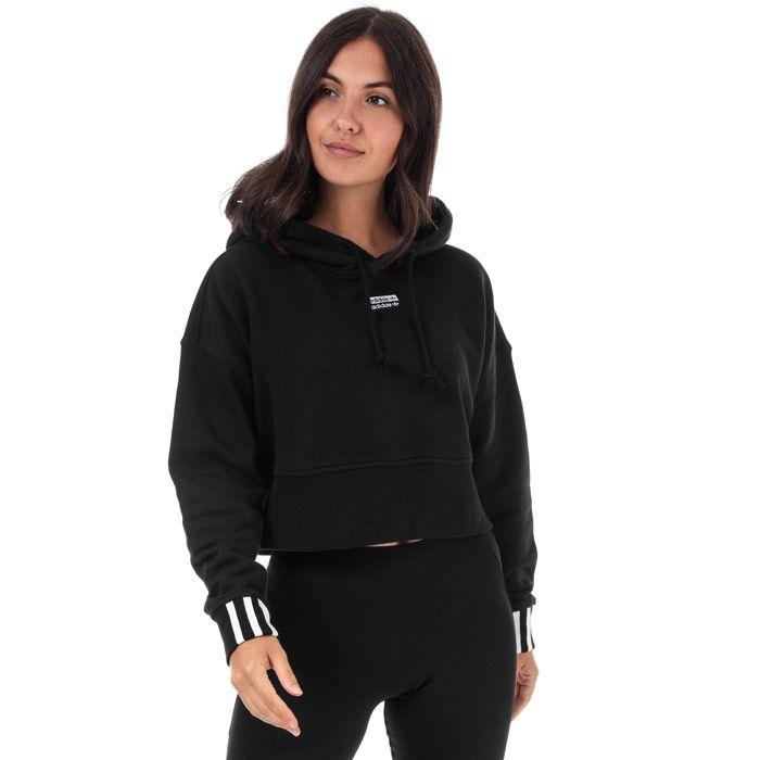 Women's adidas Originals Cropped Hoody in Black