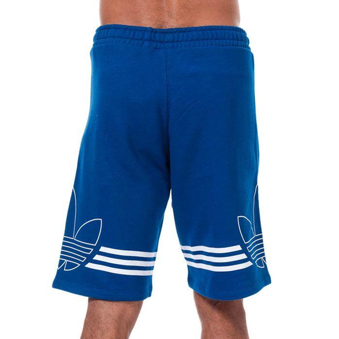 Men's adidas Outline Trefoil Shorts in Blue