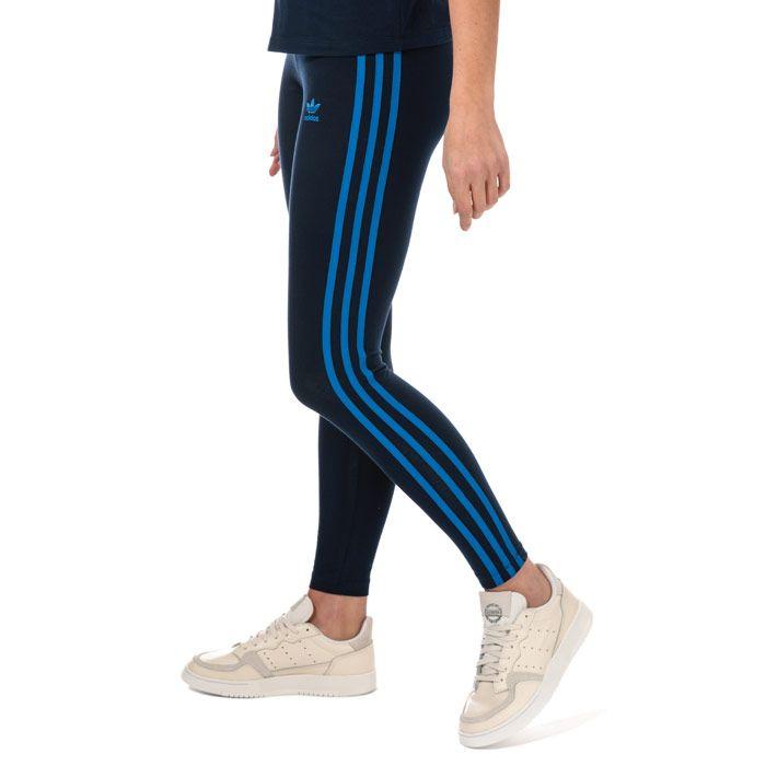 Women's adidas Originals 3-Stripes Leggings in Navy