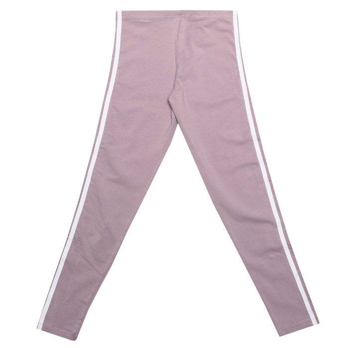 Girl's adidas Originals Junior 3 Stripe Legging in Lilac