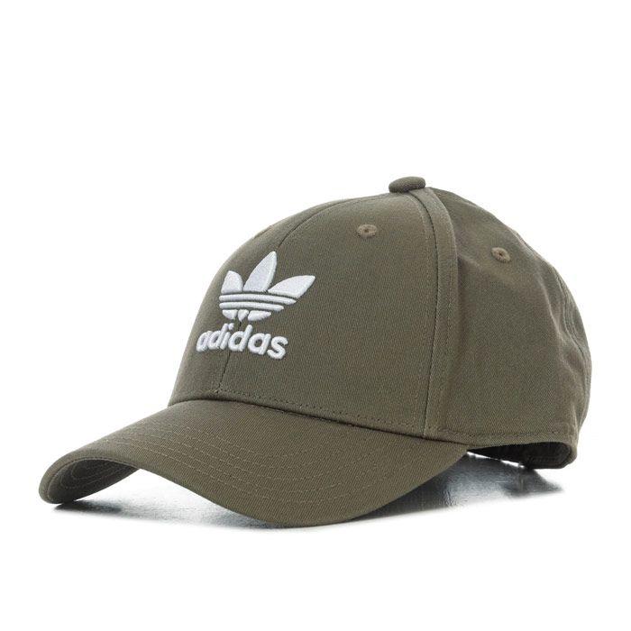 adidas Trefoil Baseball Cap in Khaki