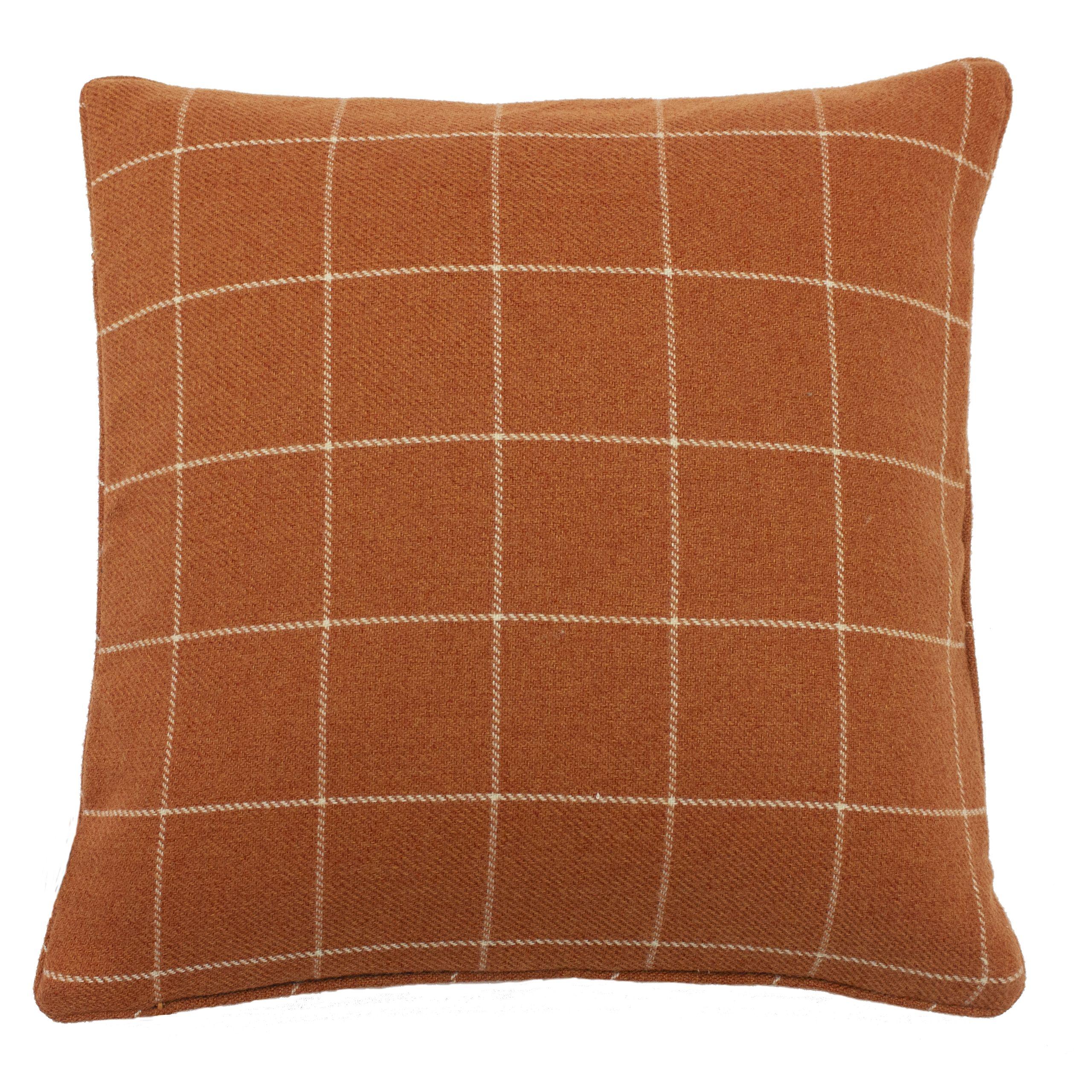 Ellis 45X45 Poly Cushion B/Orange