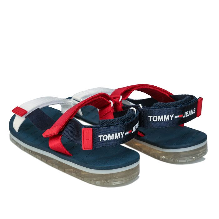Women's Tommy Hilfiger Colour Blocked Flat Sandals in Navy