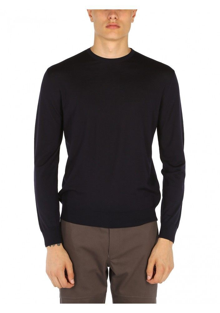 PRADA MEN'S UMM984C5WF0SVF BLUE WOOL SWEATER