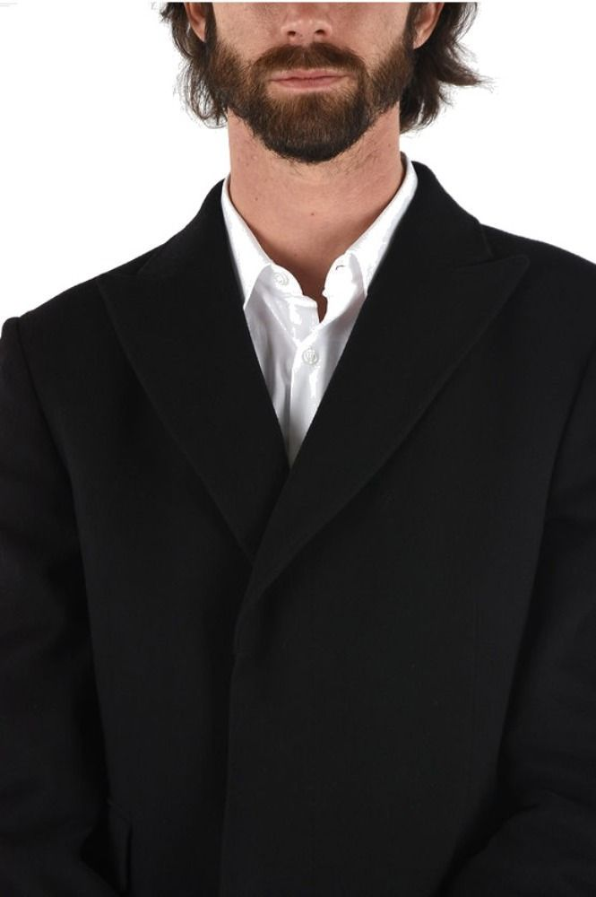 ERMENEGILDO ZEGNA MEN'S 4GDJG0697730002 BLACK WOOL COAT