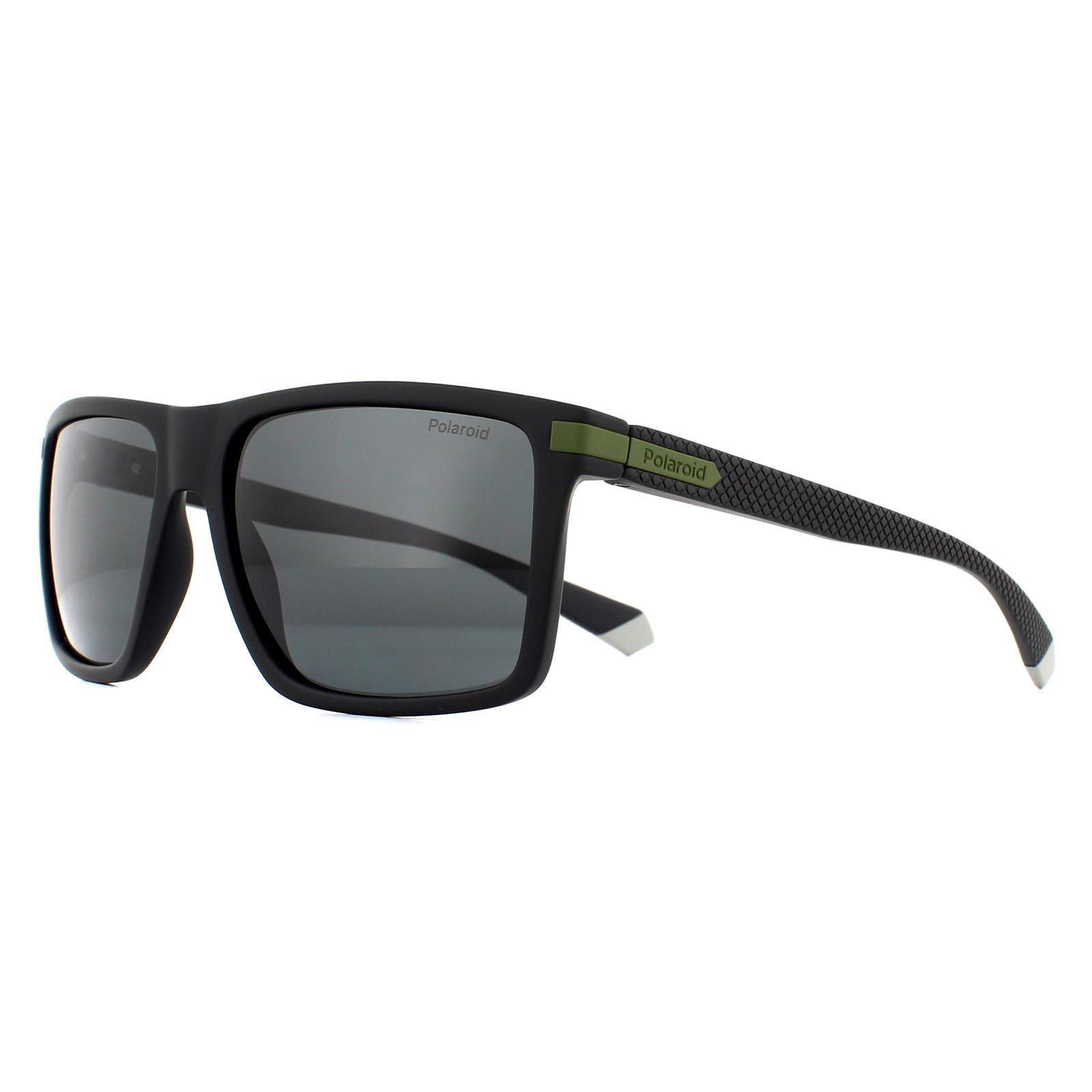 Polaroid Sunglasses PLD 2098/S 7ZJ M9 Black Green Grey Polarized