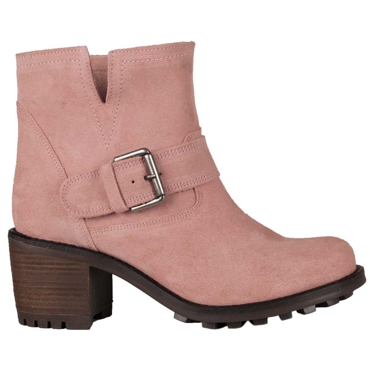 Montevita Buckle Ankle Boot in Pink