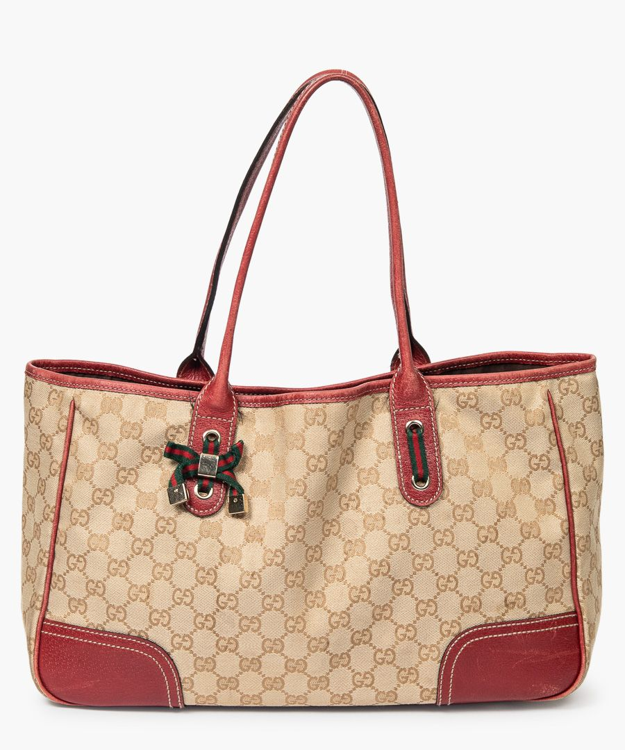 Princy GG canvas leather tote