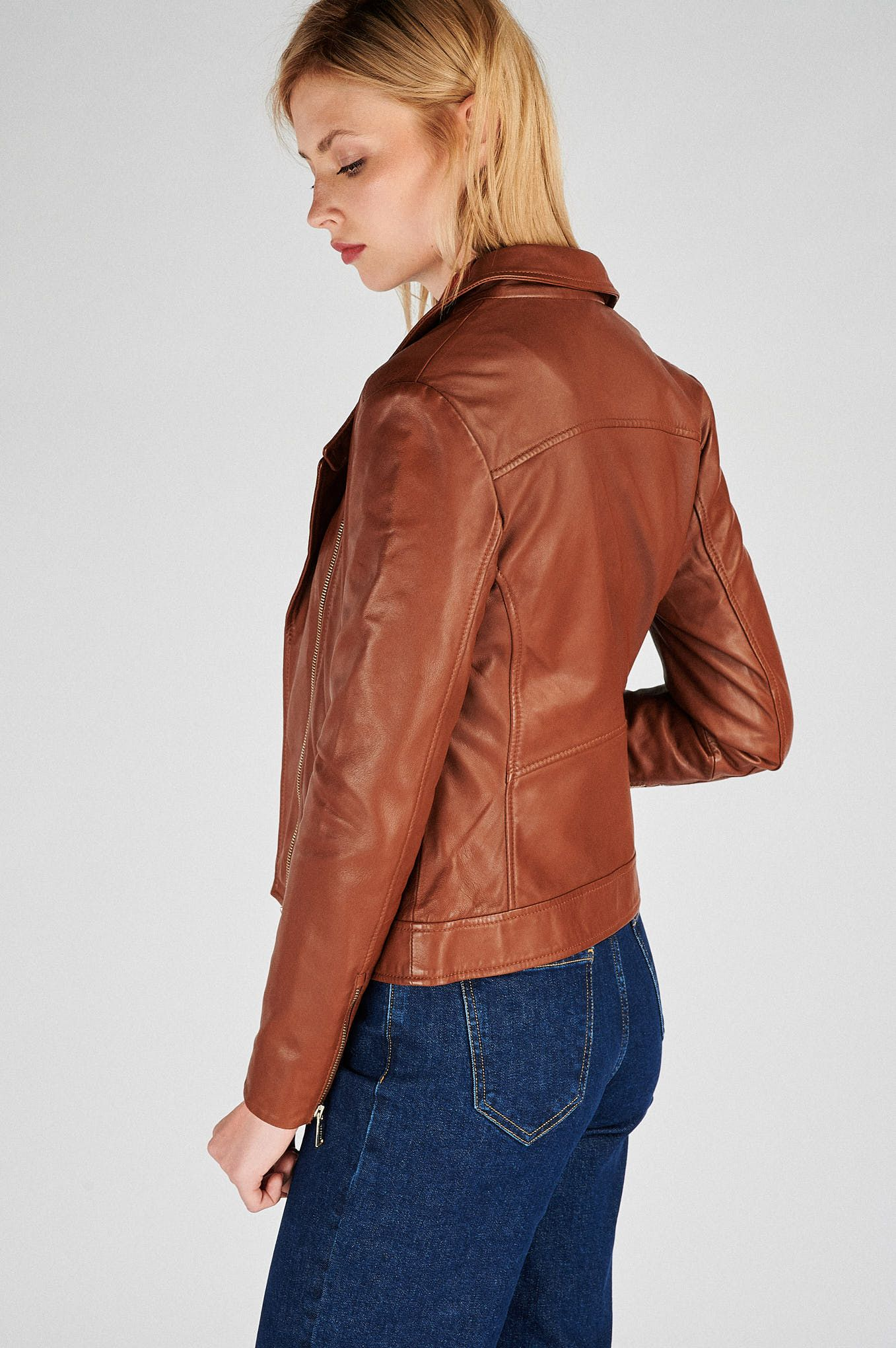 Women s Genuine Leather Casual Jacket