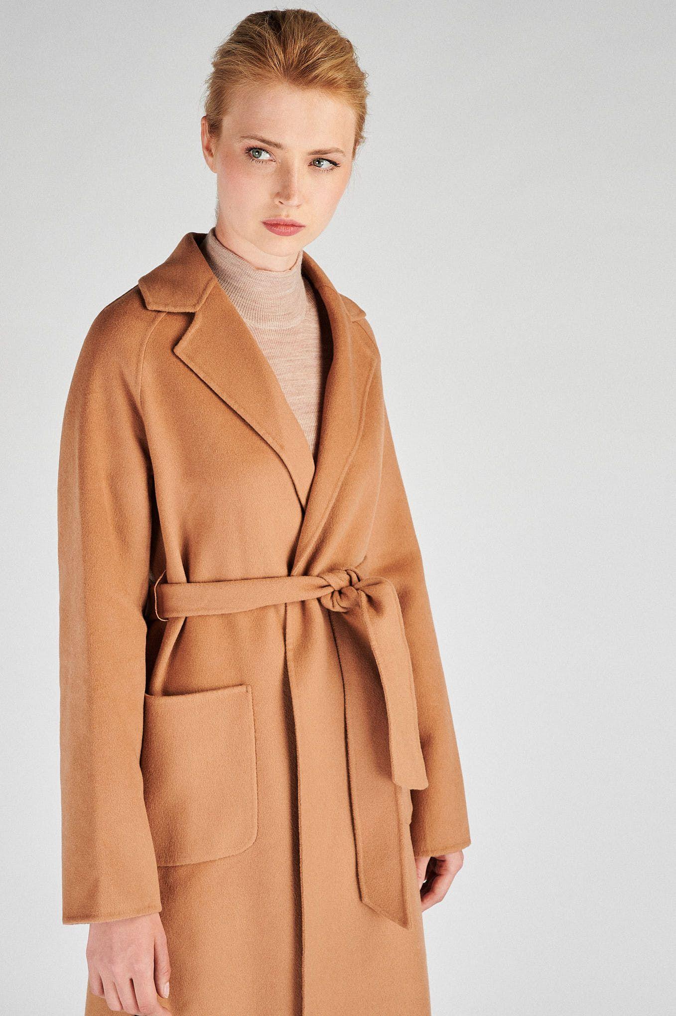 Women s  Casual Overcoat With Belt