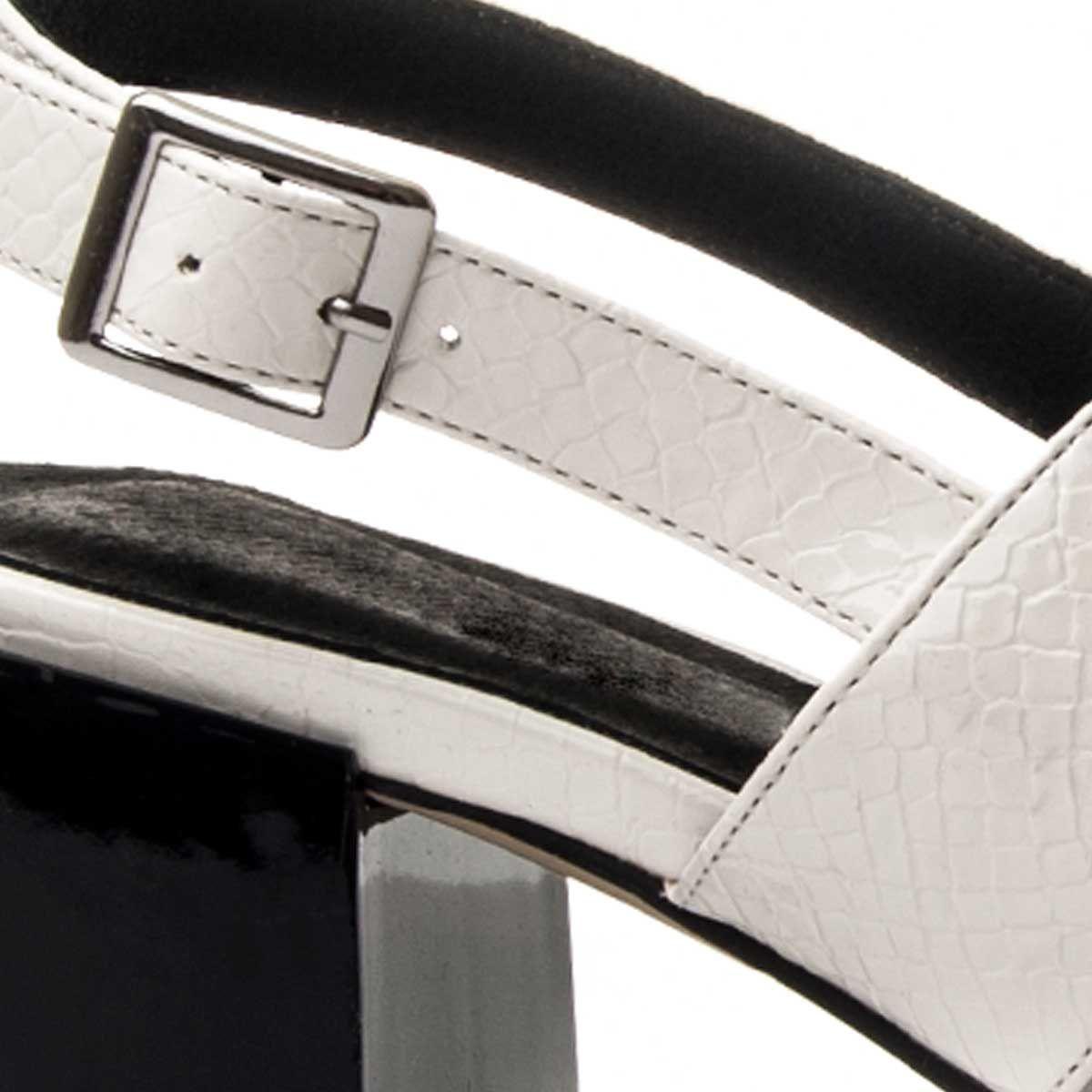 Montevita Block Heel Sandal in White