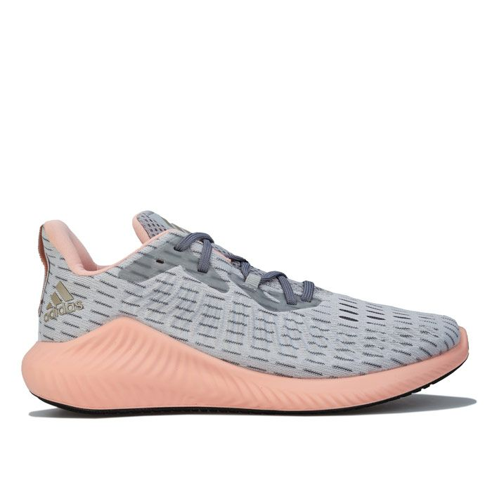 Women's adidas Alphabounce+ Running Shoes in Grey pink