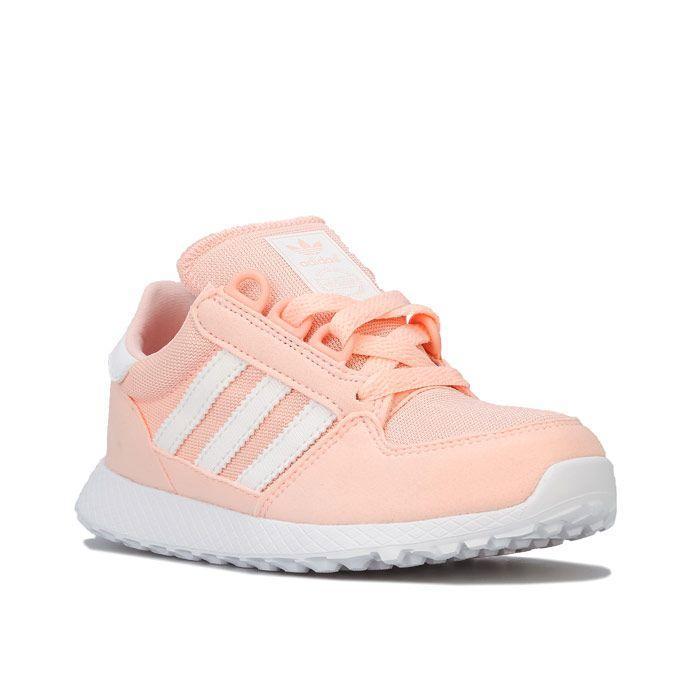 Girl's adidas Originals Children Forest Grove Trainers in Pink