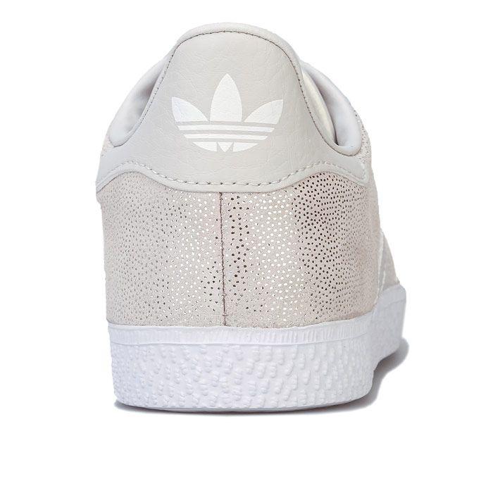 Girl's adidas Originals Junior Gazelle Trainers in Off White