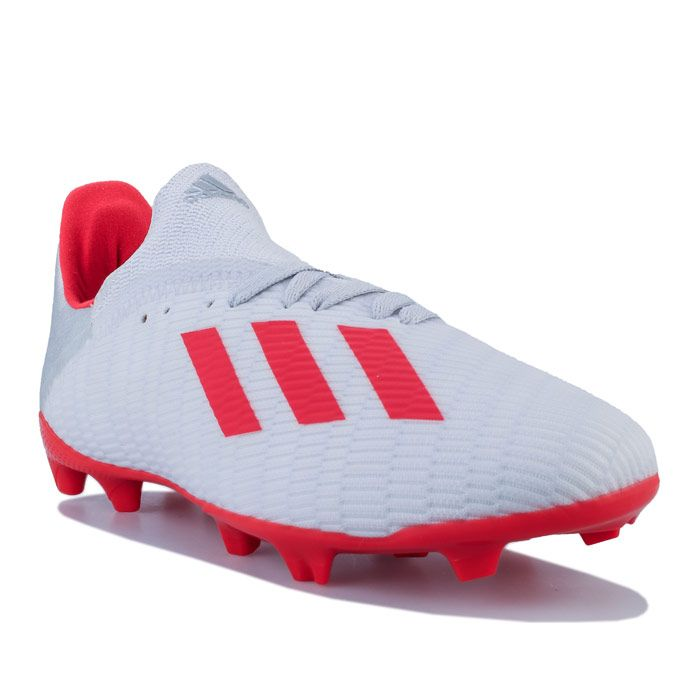 Boy's adidas Junior X 19.3 FG Football Boots in Silver