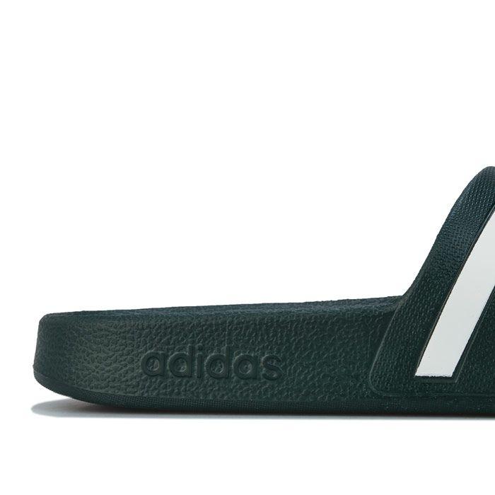 Men's adidas Adilette Aqua Slide Sandals in Green