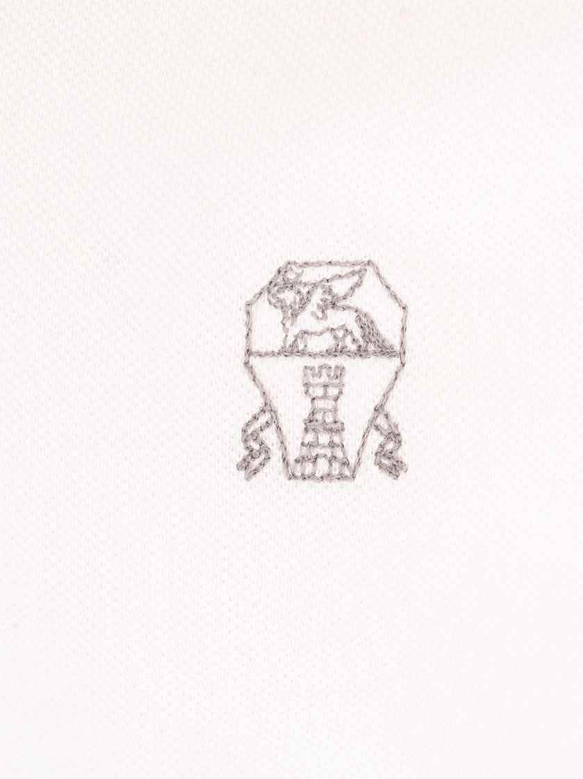 BRUNELLO CUCINELLI MEN'S M0T639779GCW787 WHITE COTTON POLO SHIRT