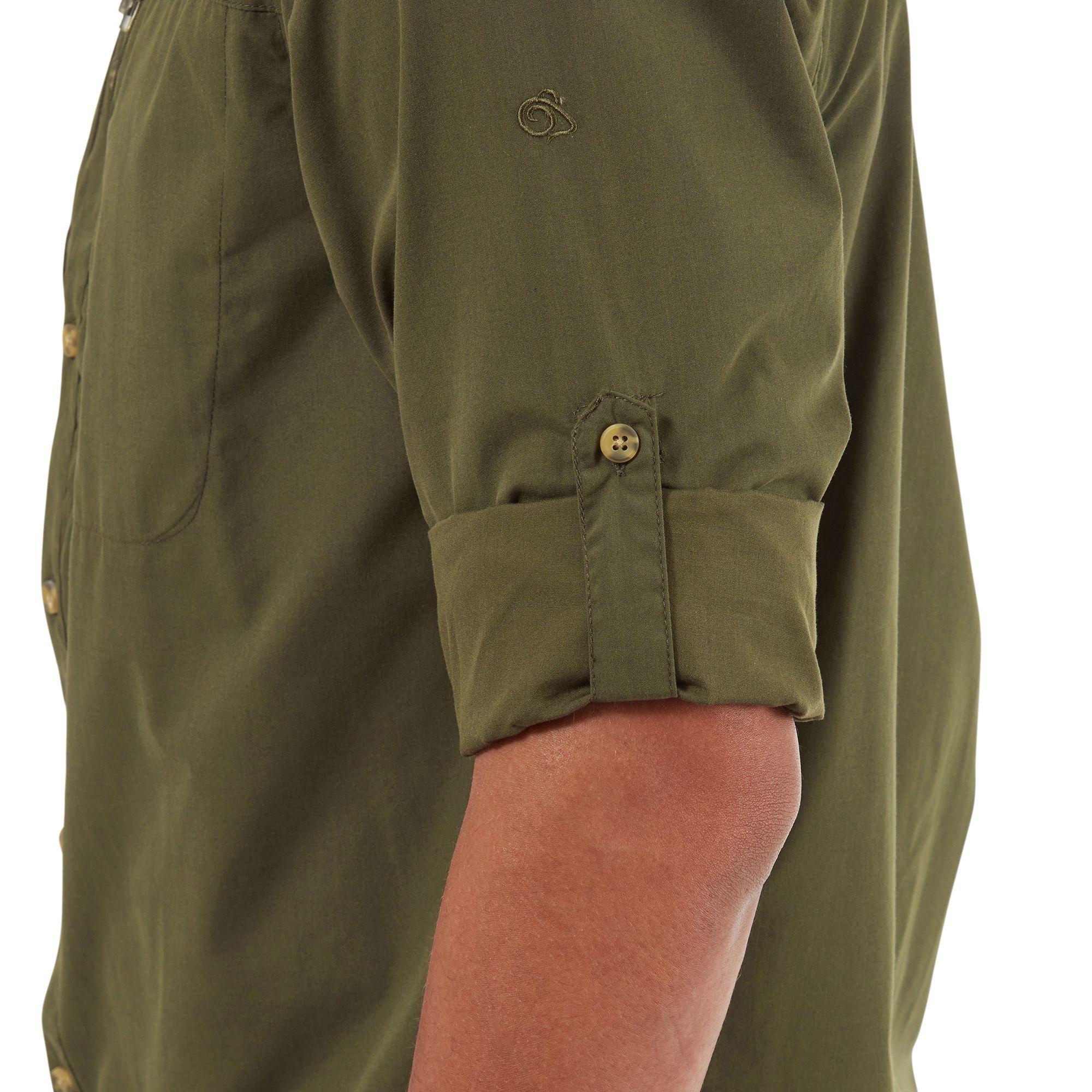 Craghoppers Mens Kiwi Boulder Shirt (Dark Khaki)
