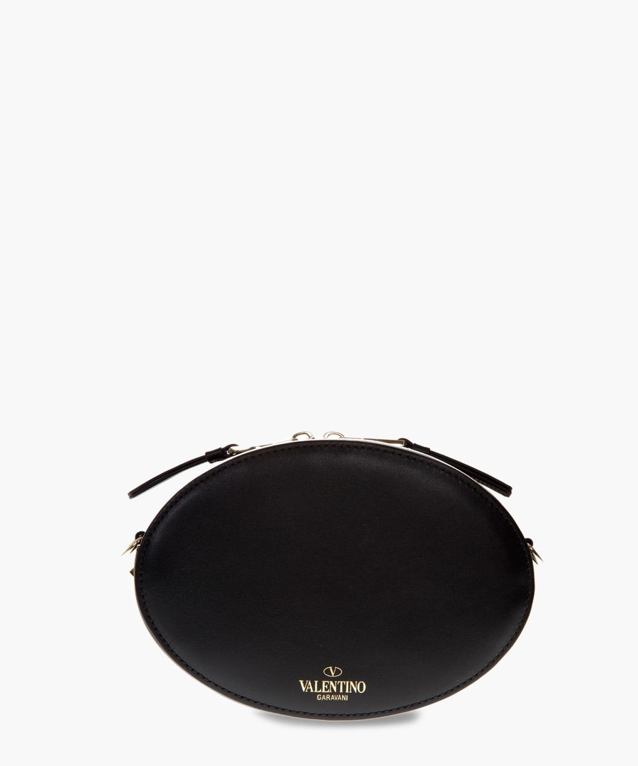 VLTN black calfskin crossbody bag