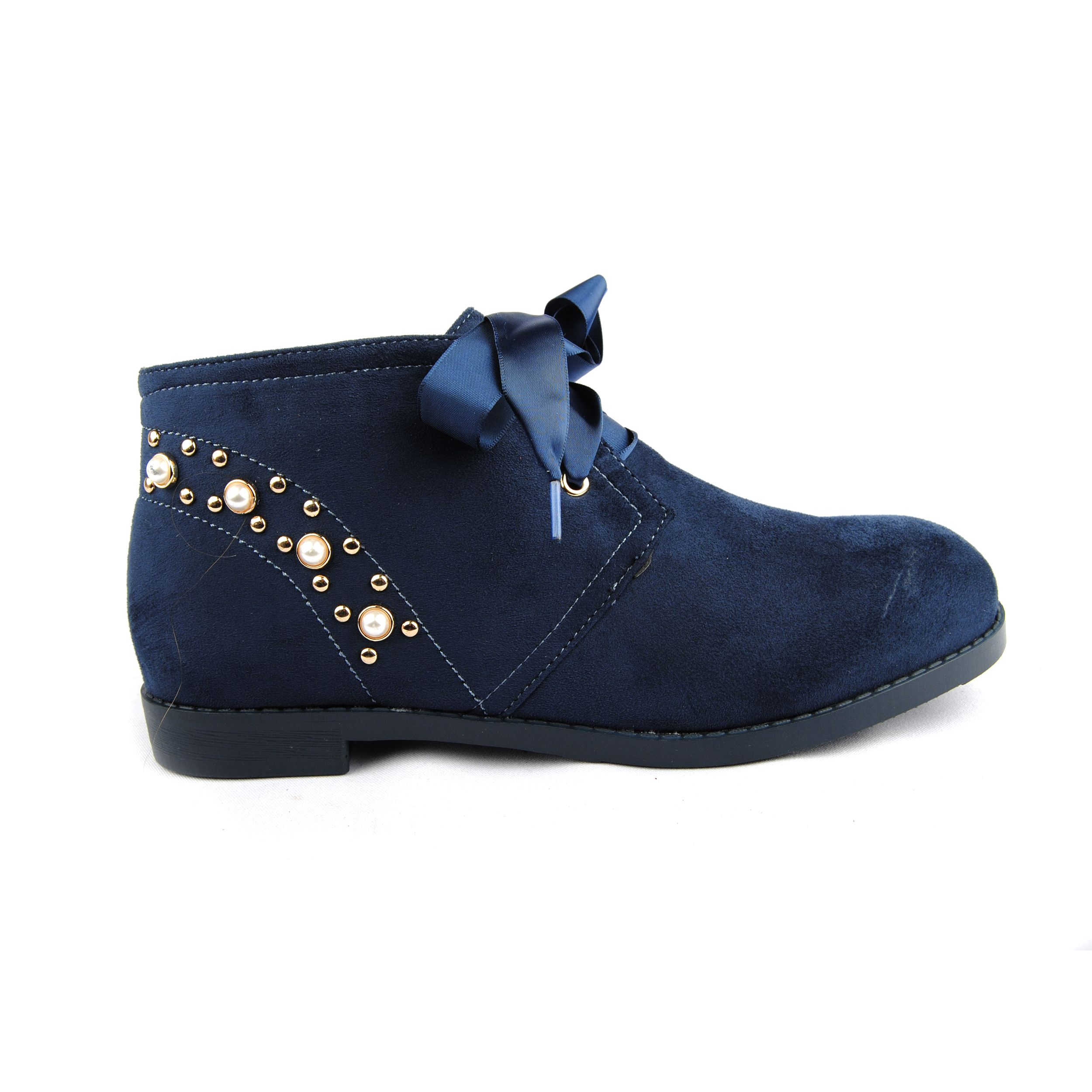 Montevita Lace Up Ankle Boot in Blue