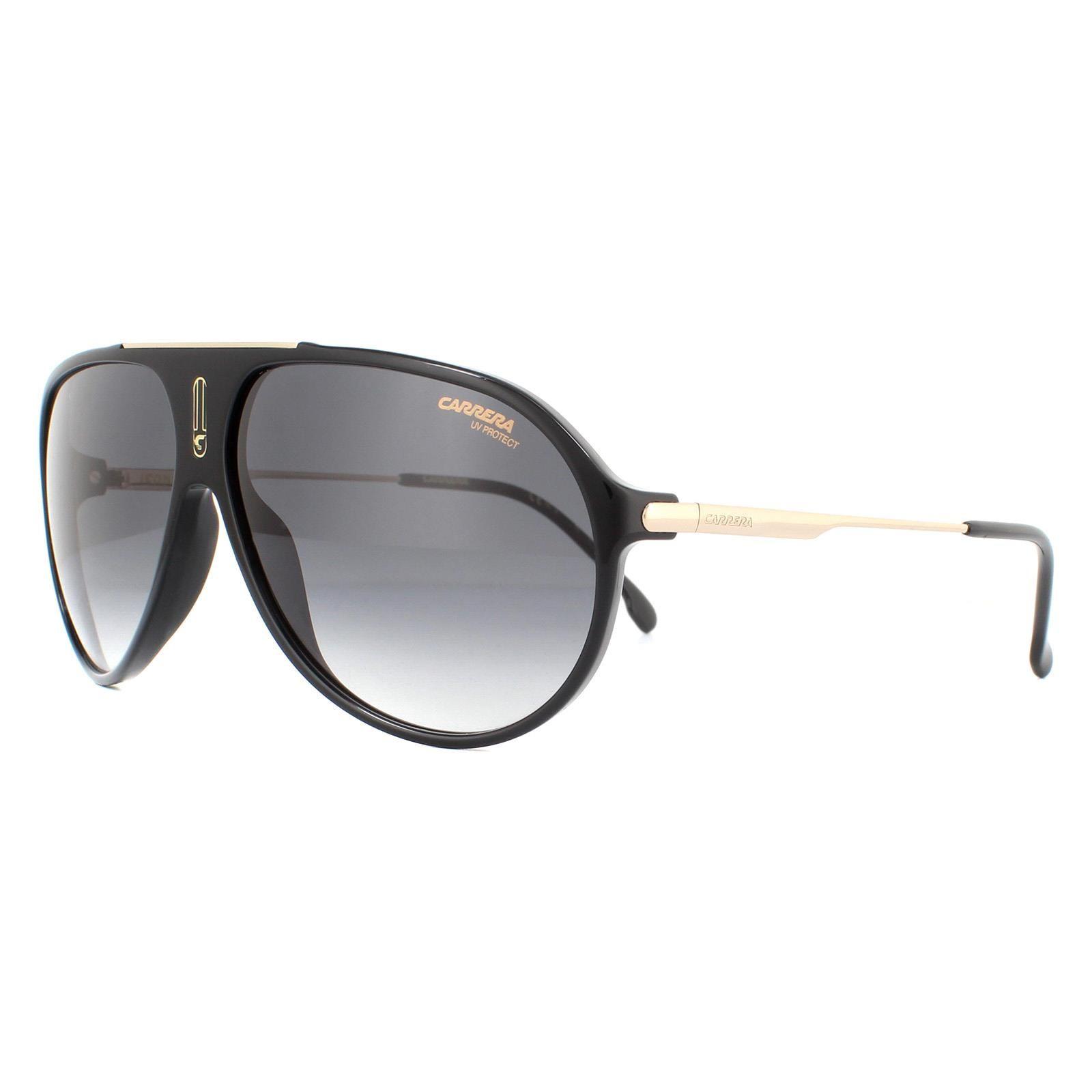 Carrera Sunglasses Hot 65 807/9O Black Dark Grey Gradient