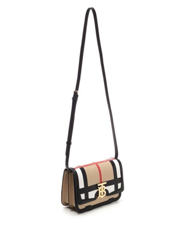 BURBERRY WOMEN'S 8021014 MULTICOLOR LEATHER SHOULDER BAG