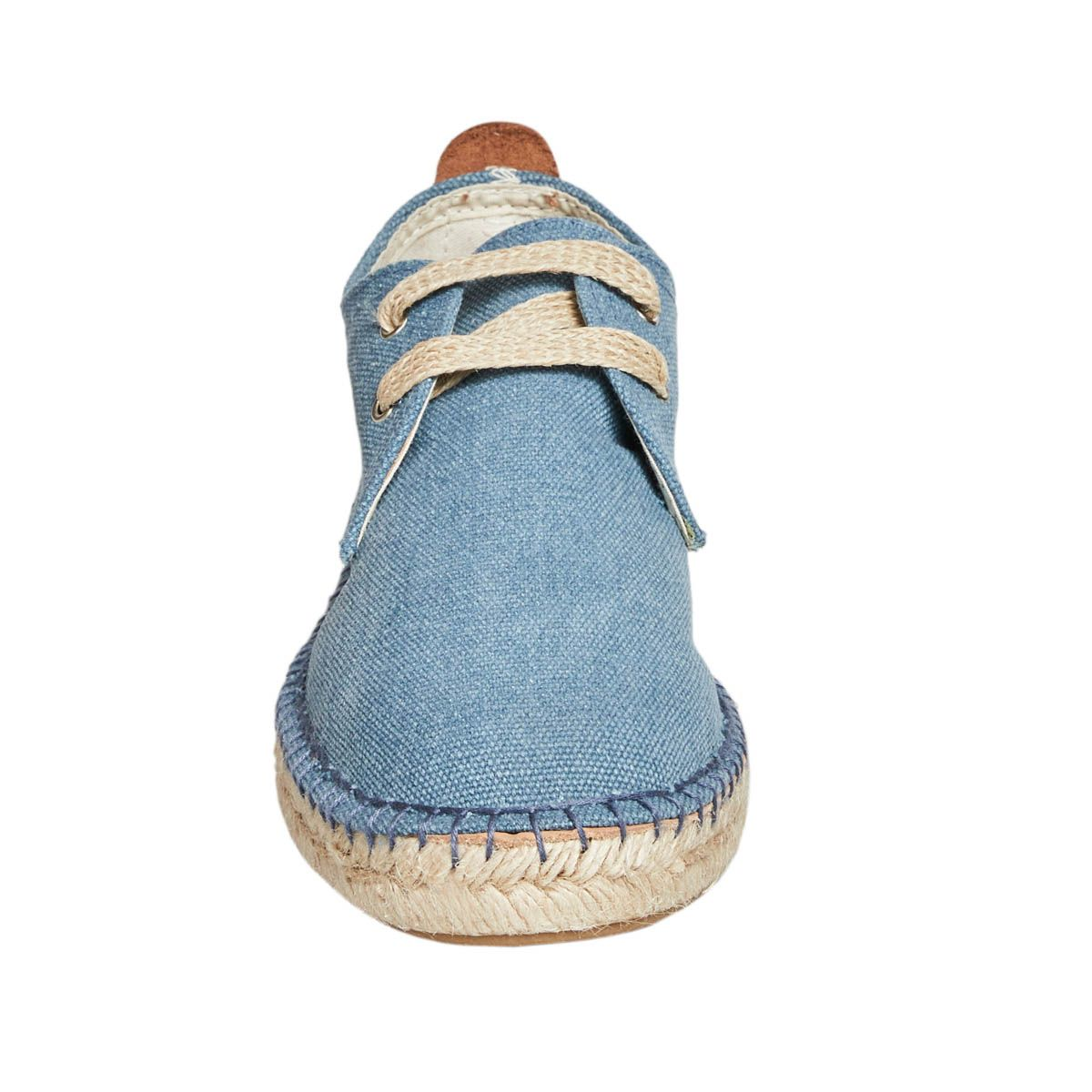 Leindia Lace Up Espadrille in Blue