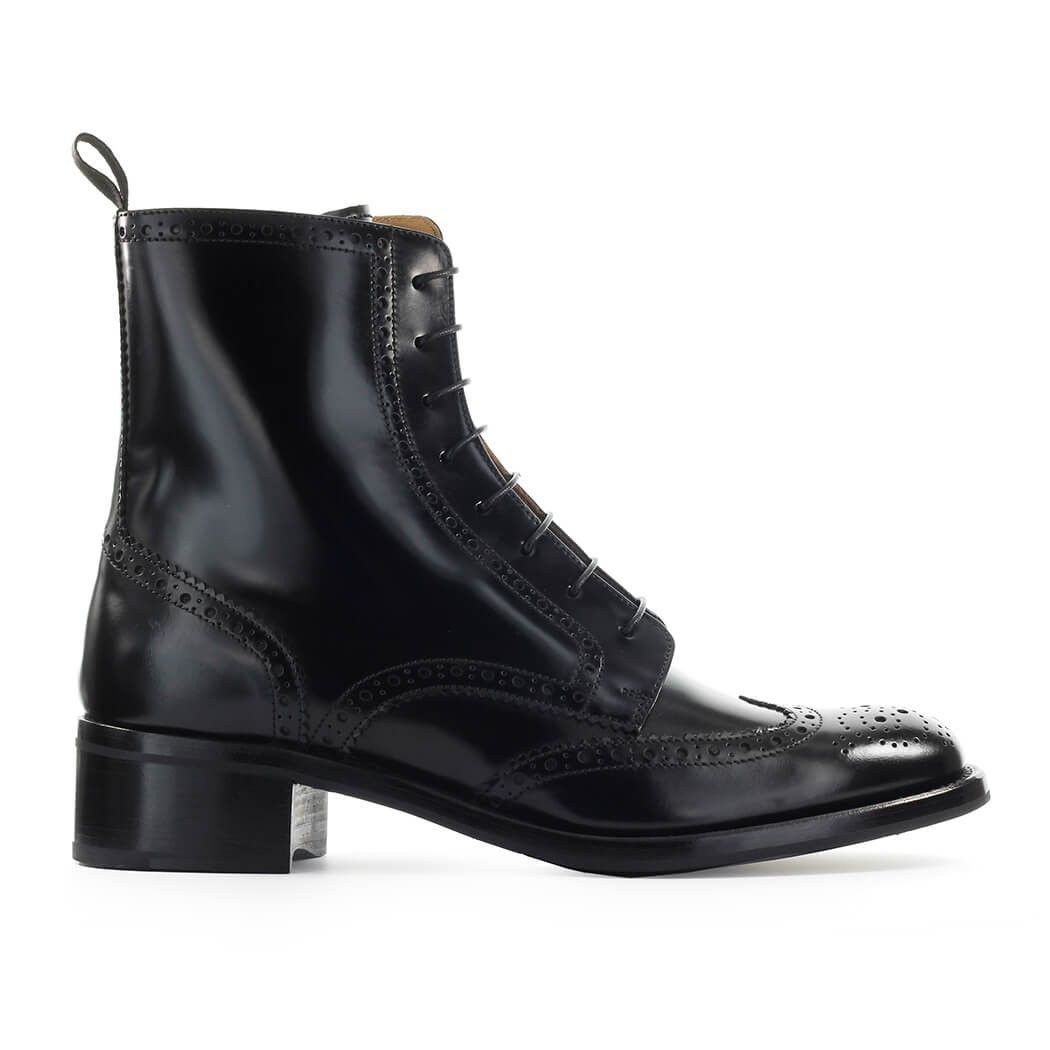 CHURCH'S WOMEN'S DT00419EMF0AAB BLACK LEATHER ANKLE BOOTS
