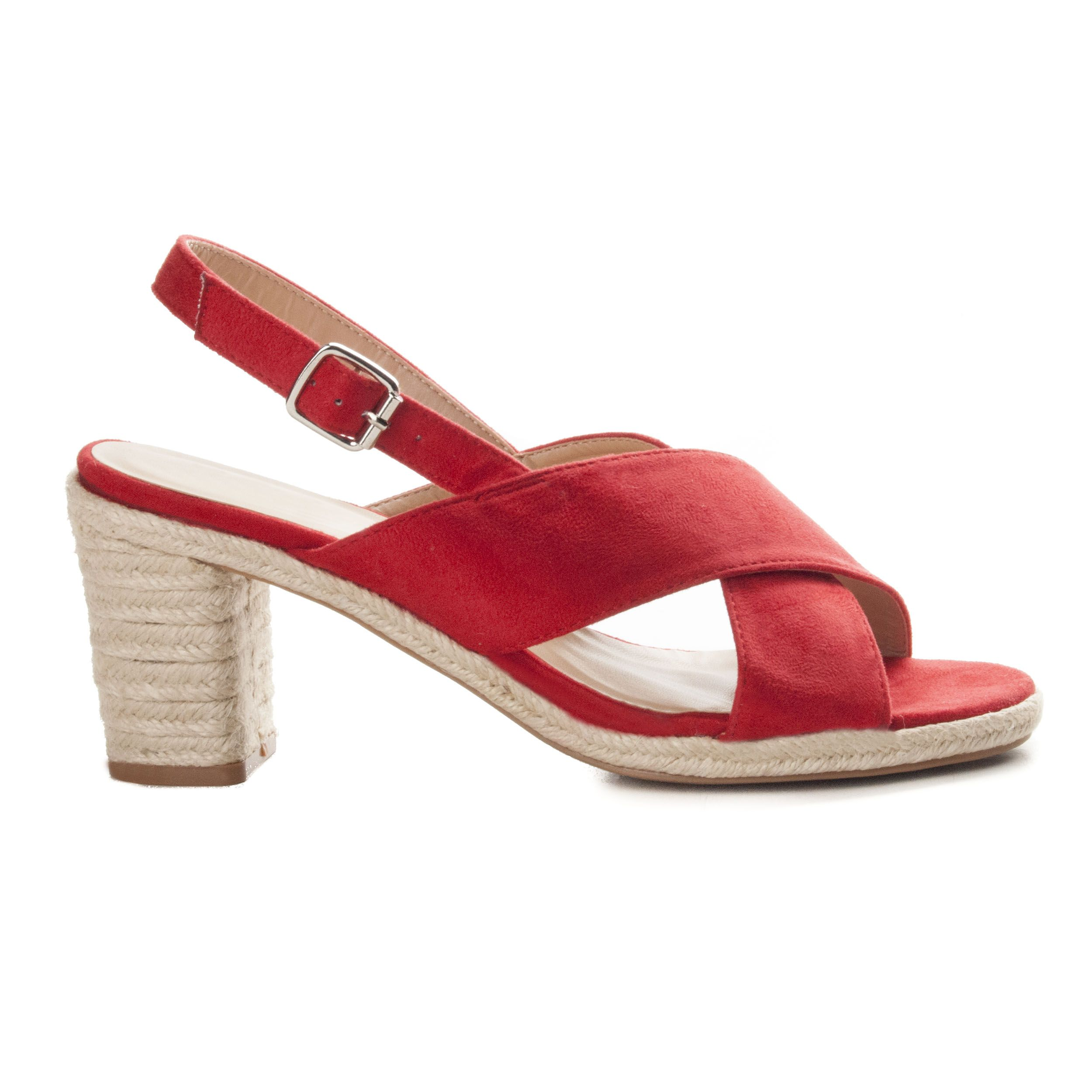 Montevita Block Heel Sandal in Red