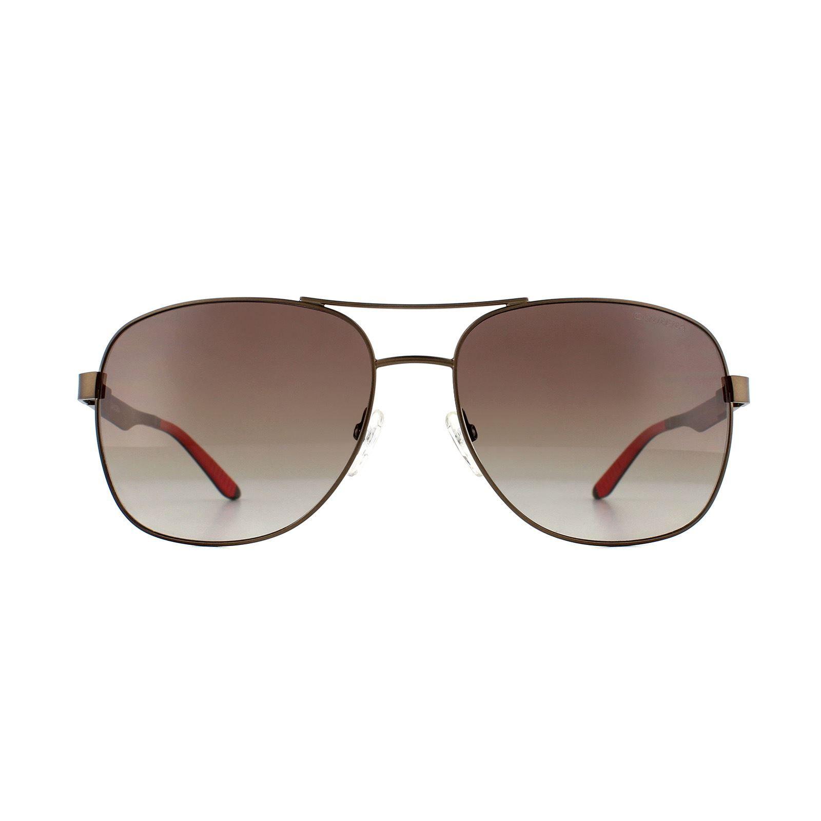 Carrera Sunglasses 8015/S NLX LA Semi-Matte Brown Brown Polarized