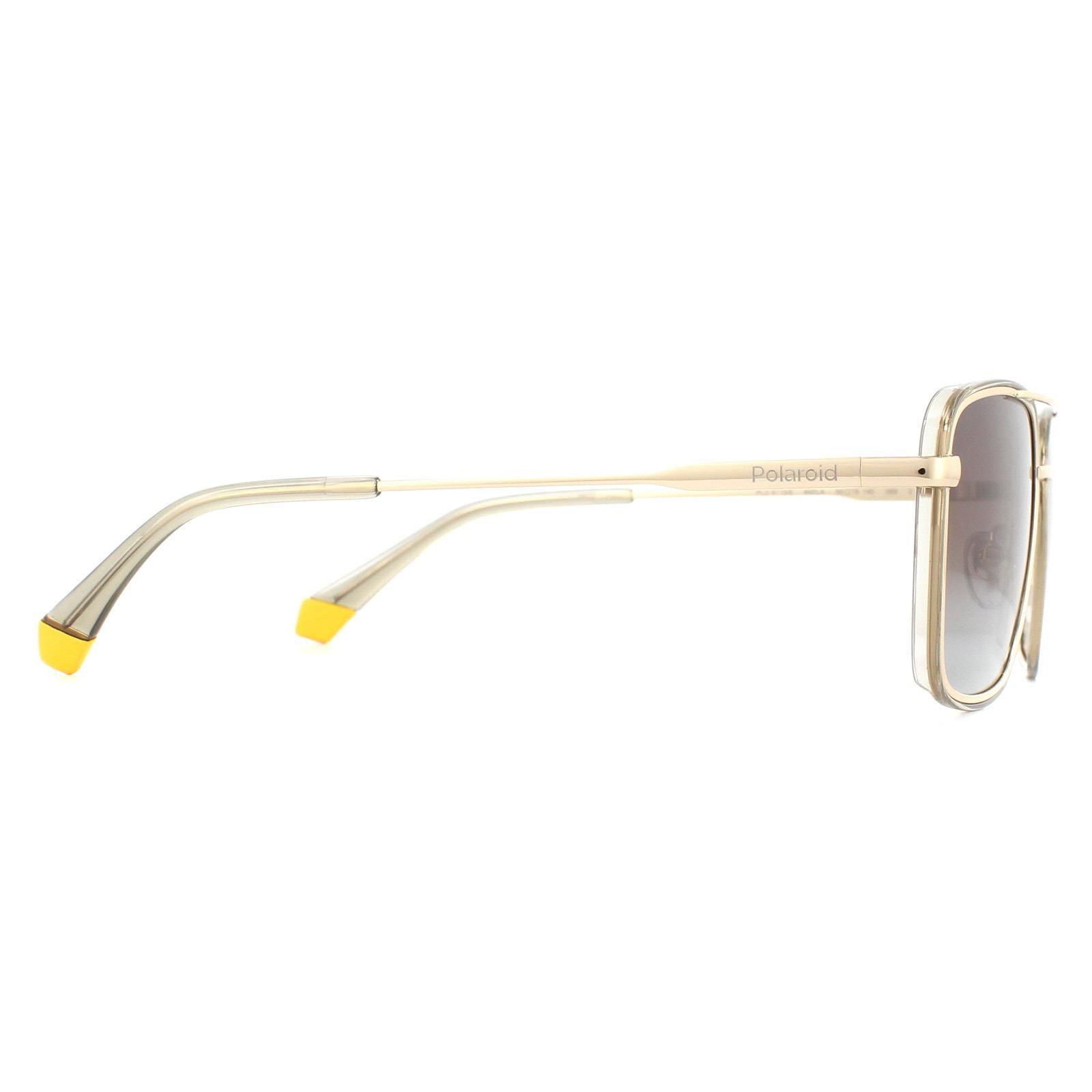 Polaroid Sunglasses PLD 6115/S 84E LA Gold Beige Brown Gradient Polarized
