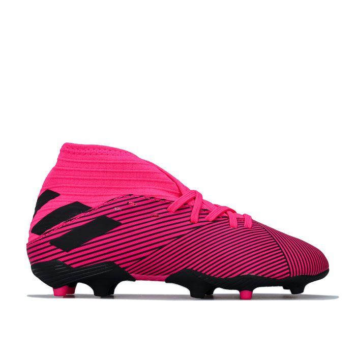 Boy's adidas Junior Nemeziz 19.3 FG Football Boots in Pink
