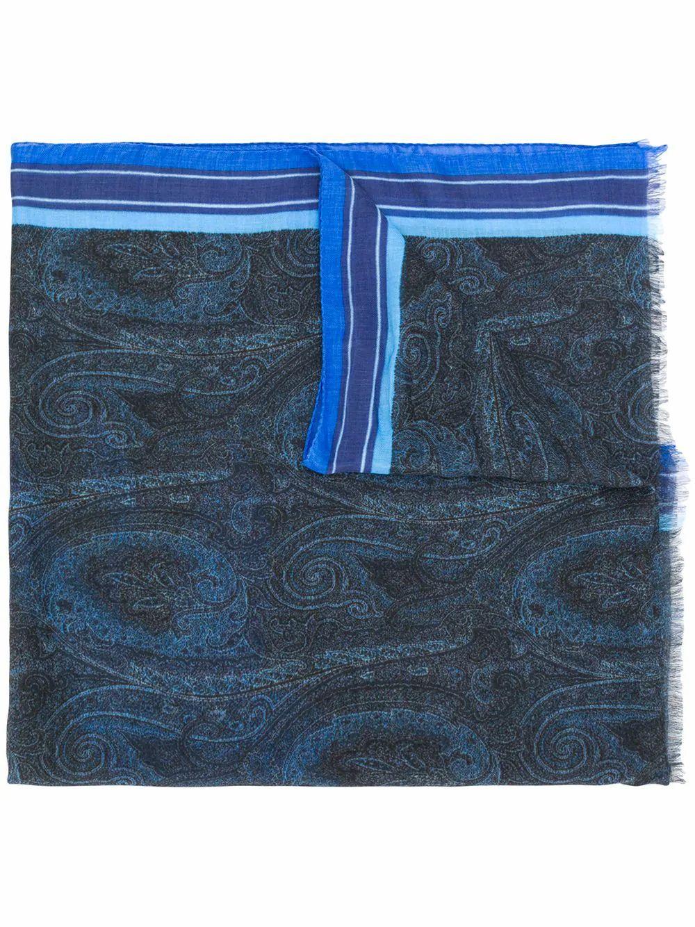 ETRO MEN'S 1000750200200 BLUE MODAL SCARF
