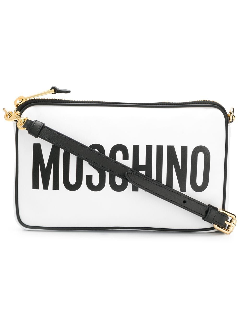 MOSCHINO WOMEN'S A741780011001 WHITE LEATHER SHOULDER BAG