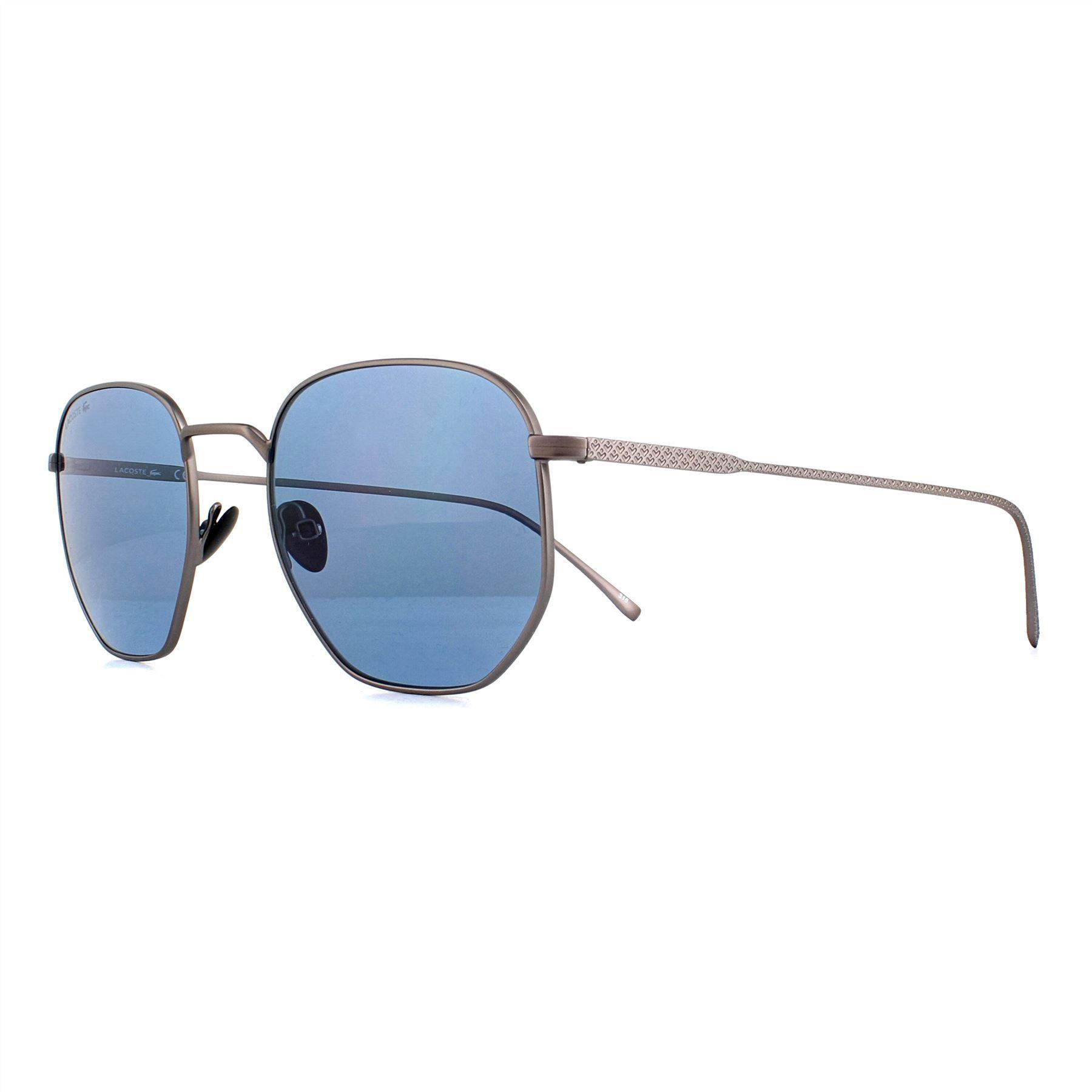 Lacoste Sunglasses L206S 033 Matte Dark Ruthenium Blue